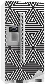 Kylskåpsdekor Trianglar, svart och vitt abstrakt Seamless geometriska mönster,