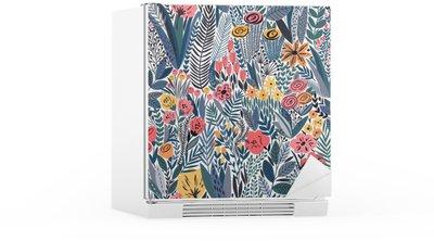 Kylskåpsdekor Tropiska sömlösa blommönster