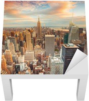 Manhattan üzerinde seyir New York Sunset görünümü
