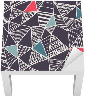 Abstrakti saumaton doodle kuvio Lack-pöydän Pinnoitus