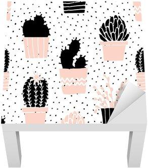 Käsin piirretty kaktuskuvio Lack-pöydän Pinnoitus