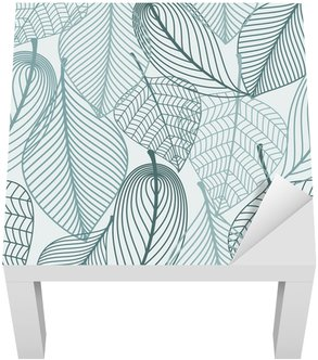 Lack Table Veneer Delicate skeleton leaves seamless pattern