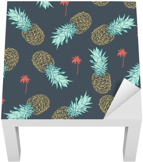 Lack Table Veneer Pineapple seamless Pattern
