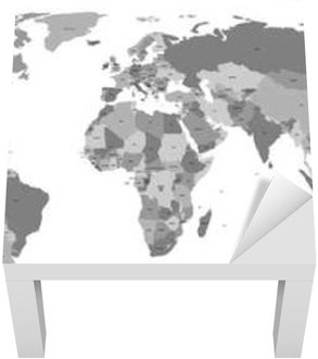 Vector World Map With Country Labels Wall Mural Pixers We - World map with country labels