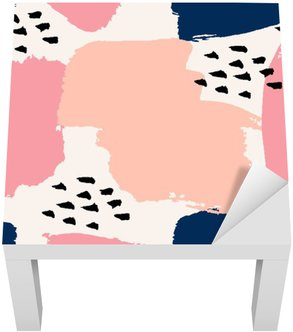 Lack Tafelsticker Hand getekende abstracte Naadloze Patroon