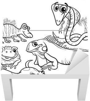 Fotobehang Reptielen en amfibieën kleurplaat • Pixers® - We leven ...