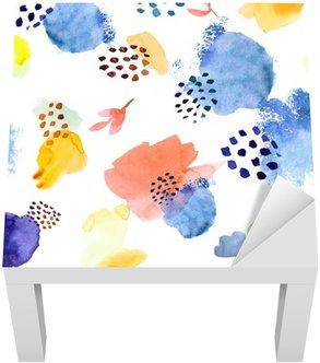 Lack-Tisch-Aufkleber Aquarell nahtlose Muster, Punkt memphis Mode-Stil, hell de