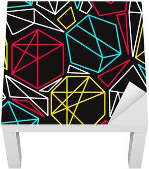 Lack-Tisch-Aufkleber Cmyk Konzept Vektor geometrische nahtlose Muster in leuchtenden Farben