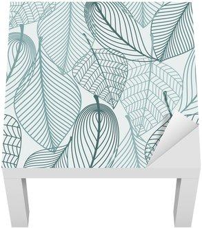Lack-Tisch-Aufkleber Delicate Skelett Blätter nahtlose Muster