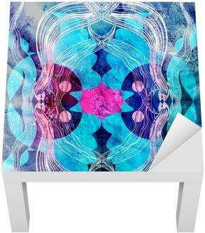 Lack-Tisch-Aufkleber Fantastischen abstrakten Muster
