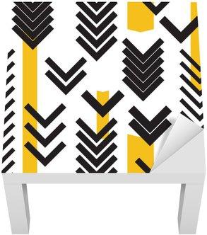 Lack-Tisch-Aufkleber Geometrie nahtlose Muster