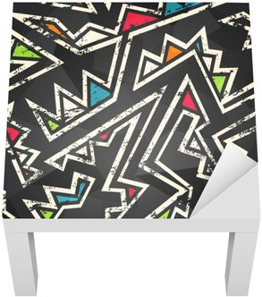 Lack-Tisch-Aufkleber Graffiti nahtlose Muster