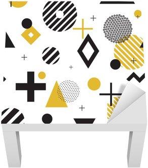 Lack-Tisch-Aufkleber Memphis-Stil nahtlose Muster