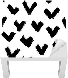 Lack-Tisch-Aufkleber Nahtlose Pinselstriche Muster
