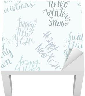 Lack-Tisch-Aufkleber Nahtlose Vektor-Schriftzug-Muster