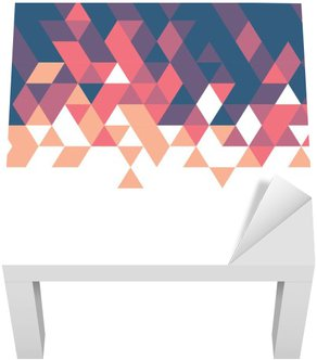 Lack-Tisch-Aufkleber Retro geometrische Vorlage für Geschäfts-oder Technologie-Präsentation und Platz für Ihren Text oder Thema, Vektor-Illustration
