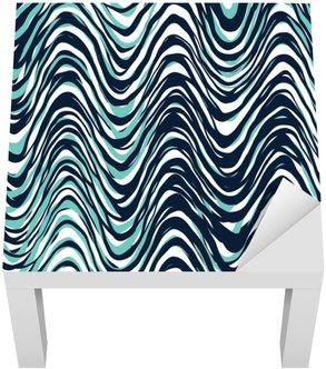 Lack-Tisch-Aufkleber Seamless pattern