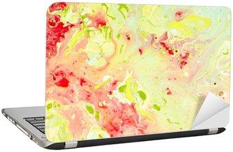 Laptop-Aufkleber Abstrakte Farbe Hintergrund