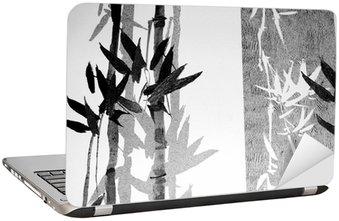 Laptop-Aufkleber Bamboo texture