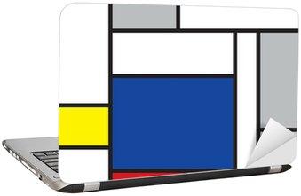 Laptop-Aufkleber Mondrian inspirierten Kunstwerke