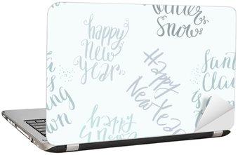 Laptop-Aufkleber Nahtlose Vektor-Schriftzug-Muster
