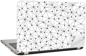 Laptop-Aufkleber Polygonal Hintergrund, nahtlose Muster, Linien und Kreise