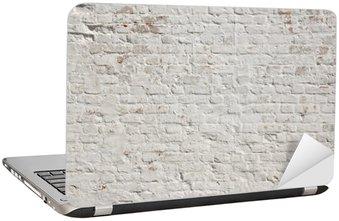Laptop-Aufkleber Weiß Grunge Mauer Hintergrund