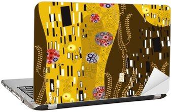 Klimt inspireret abstrakt kunst Laptop Klistermærke
