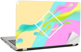 Laptop Sticker Abstract bright geometric composition