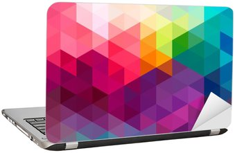Abstract colorful seamless pattern background Laptop Sticker