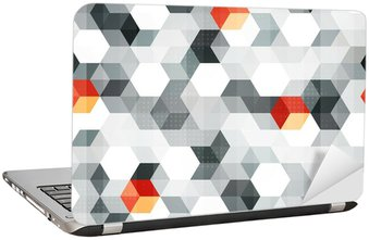 abstract cubes seamless pattern with grunge effect Laptop Sticker