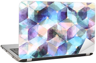 Laptop Sticker Abstract diagonal background