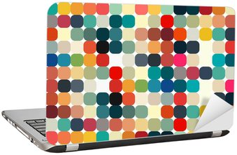 Abstract geometric retro pattern seamless for your design Laptop Sticker