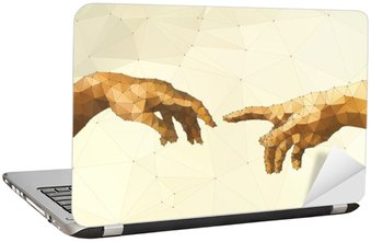 Abstract God's hand vector illustration Laptop Sticker