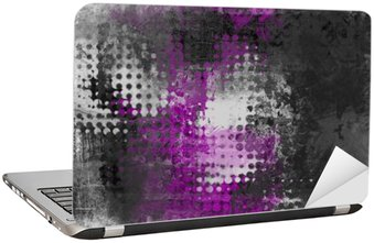 Abstract grunge background with grey, white and purple Laptop Sticker