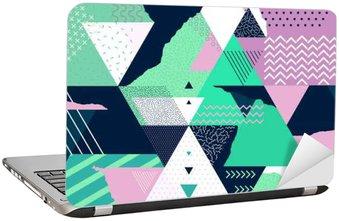 Laptop Sticker Art geometrische achtergrond