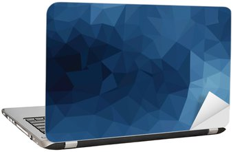 Laptop Sticker Blauw geometrisch patroon, driehoeken achtergrond