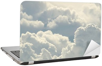 blue sky and beautiful clouds Laptop Sticker
