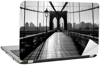 Brooklyn Bridge, Manhattan, New York City, USA Laptop Sticker