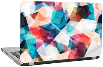colored mosaic seamless pattern with grunge effect Laptop Sticker