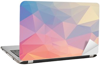 Laptop Sticker Colorful polygon
