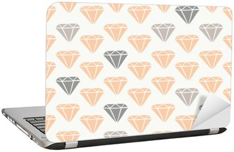 Laptop Sticker Diamond Shapes Seamless Pattern