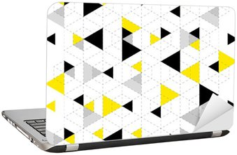 Geometric Pattern Background Laptop Sticker