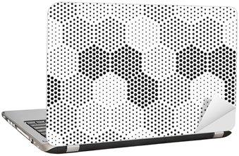 Hexagon Illusion Pattern Laptop Sticker