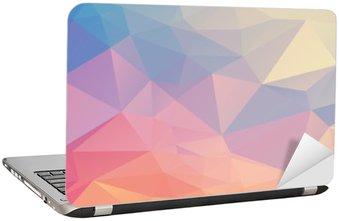 Laptop Sticker Kleurrijke veelhoek