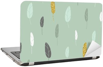 Leaf pattern. Laptop Sticker