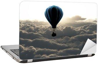 Laptop Sticker Luchtballon op hemel