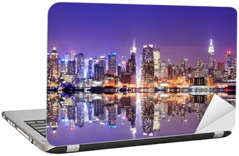 Manhattan Skyline with Reflections Laptop Sticker