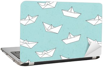 Laptop Sticker Paper boat pattern