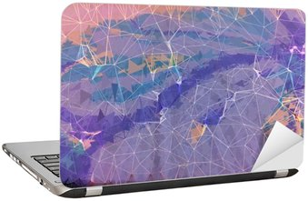 Laptop Sticker Pink and purple grunge abstract background illustration